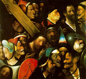 Faces around the cross