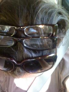 Glasses on head