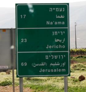 Road Sign Jerusalem