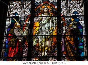 Moses and Jesus Stained Glass